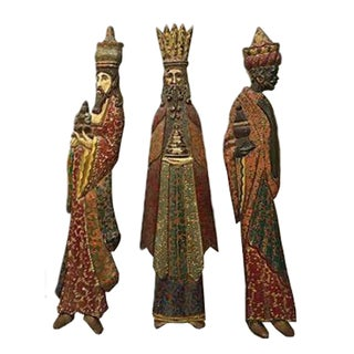 Hand-Carved & Painted Wise Men - Set of 4