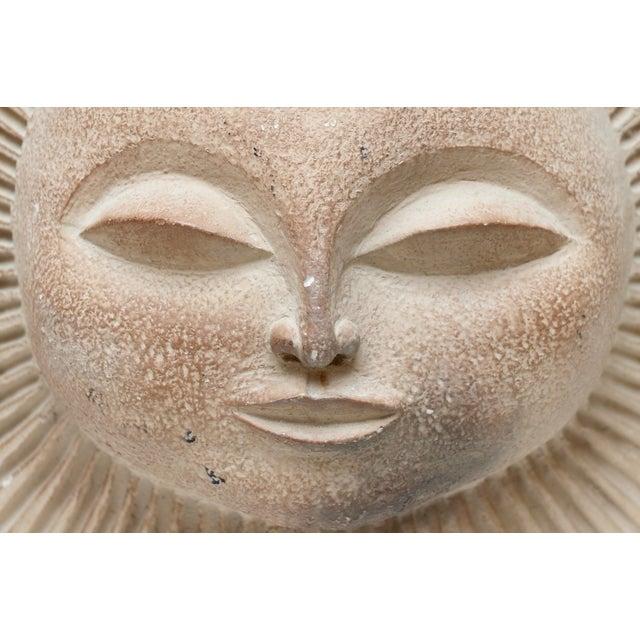Mid-Century Sun Face Sculpture For Sale - Image 4 of 9