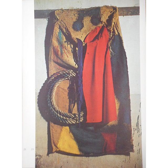 Mid-Century Modern Vintage Mid 20th C. Quadrichrome Photographic Prints-Derriere Le Miroir-Miro-Tapestries-A Pair For Sale - Image 3 of 8