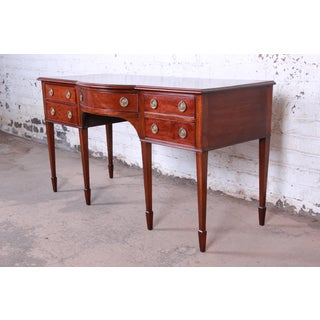 Antique English Hepplewhite Style Mahogany Sideboard Buffet Preview