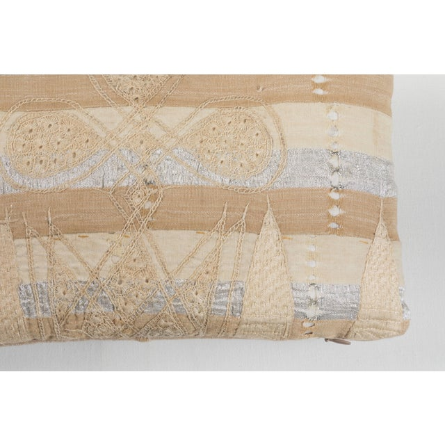 African African Embroidery Pillow For Sale - Image 3 of 5