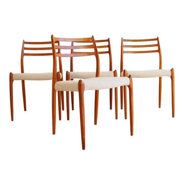 J L Moller Danish Modern Model 78 Teak Dining Chair - Set of 4 For Sale