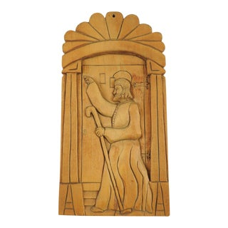Folk Art Carving Retablo For Sale