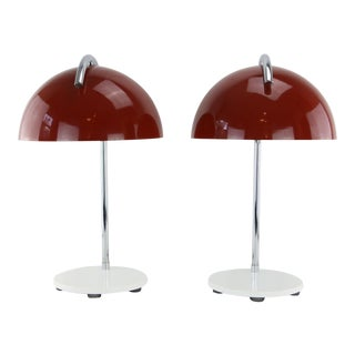"Pair Lightolier ""Basic Concept"" Dome Lamps 1986 New Old Stock Gerald Thurston? For Sale"