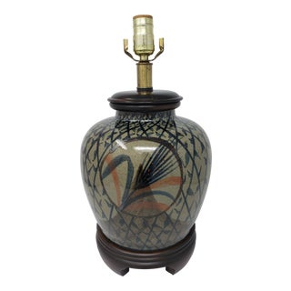 Vintage Frederick Cooper Hand Painted Table Lamp For Sale