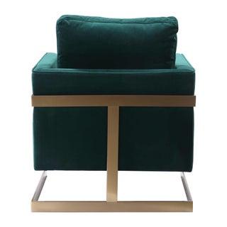 Emerald Green Plush Velvet Accent Chair Preview