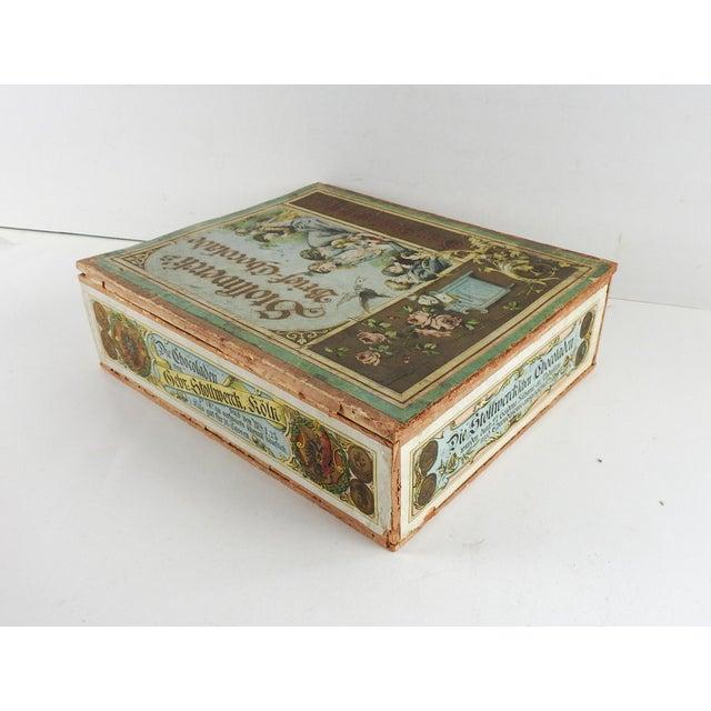 Art Nouveau Antique German Chocolate Box For Sale - Image 3 of 6