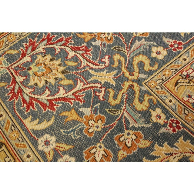 Shabby Chic Pak-Persian Mirna Red/Teal Wool Rug - 9'0 X 12'0 For Sale - Image 4 of 8