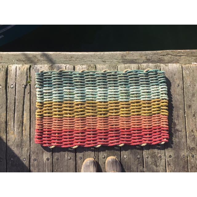 Recycled Lobster Rope Doormat - 1′7″ × 2′10″ - Image 4 of 4