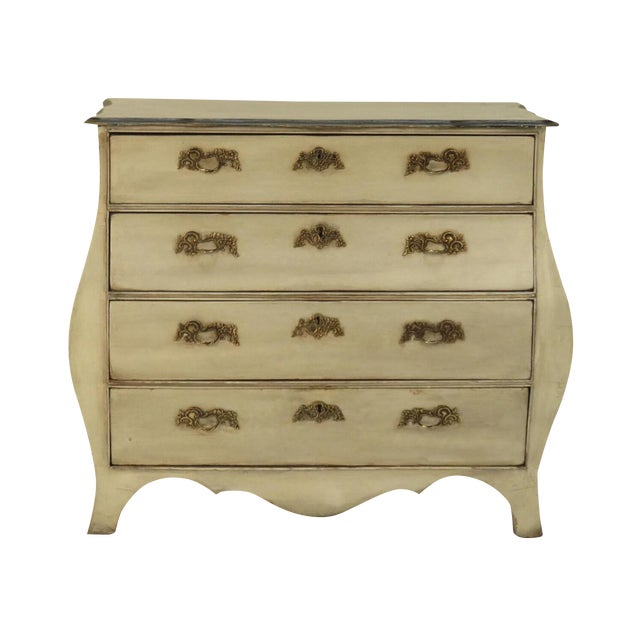 19th Century Dutch Painted Bombe Commode For Sale