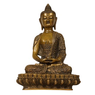 Tibetan Antique Carved Bronze Buddha Statuary For Sale