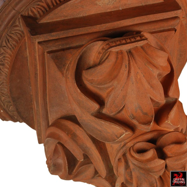 Ceramic Large Terracotta Corbel Wall Bracket For Sale - Image 7 of 11