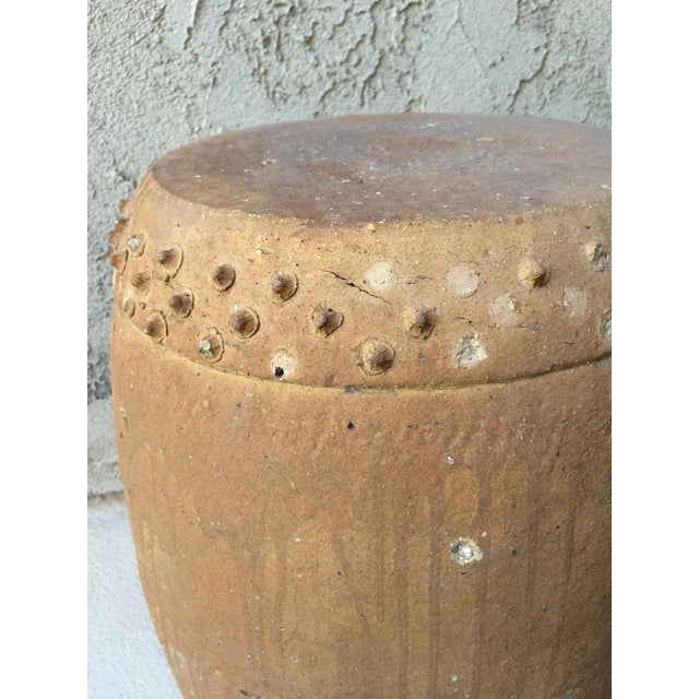 Brown Chinese Terracotta Garden Stool For Sale - Image 8 of 9