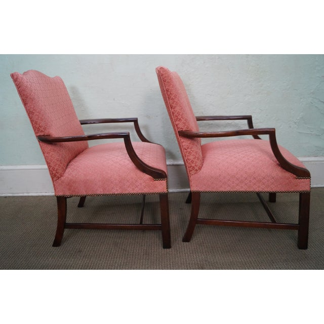 Antique 1930 Chippendale Armchairs - A Pair - Image 7 of 10