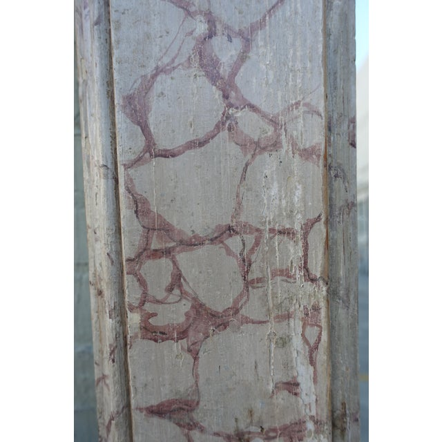Early 20th Century Faux Marble Painted Mirror For Sale - Image 5 of 6