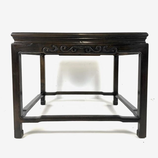 Asian Pair of Mario Buatta for Widdicomb Asian Chinoiserie Ebonized Nesting Tables For Sale - Image 3 of 13