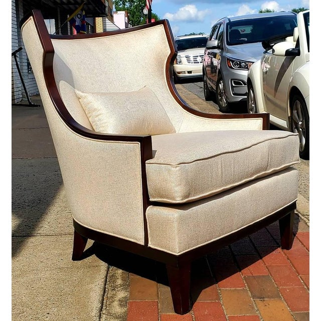 Henredon Furniture Barbara Barry Accent/Lounge Chair W/ Kidney Pillow For Sale - Image 10 of 10