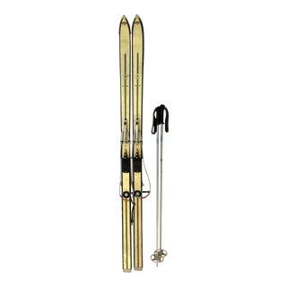 Vintage Snow Skis W Ski Poles - a Pair For Sale