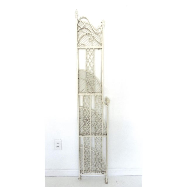 Cast Iron Folding Four Tiered Corner Shelf Unit - Étagère For Sale In Tampa - Image 6 of 6
