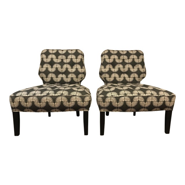 Vintage Mid-Century Slipper Chairs - A Pair - Image 1 of 9