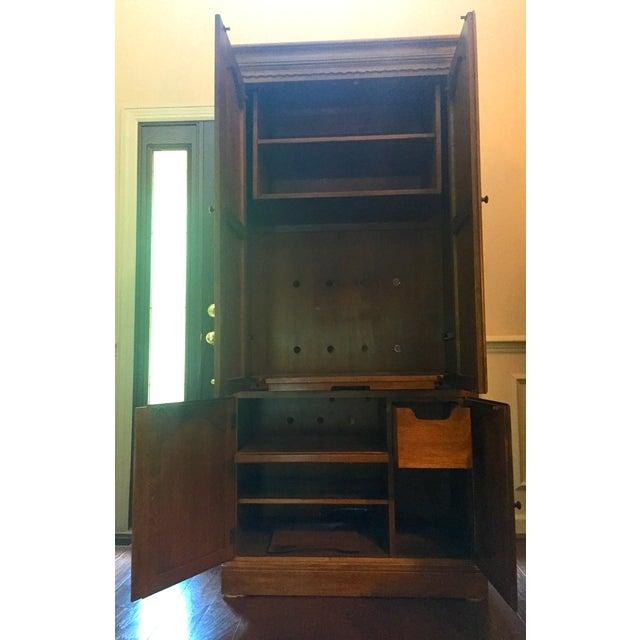 Ethan Allen Vintage Ethan Allen Entertainment Cabinet For Sale - Image 4 of 9