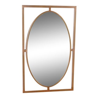 Crate & Barrel Gold Wall Mirror For Sale