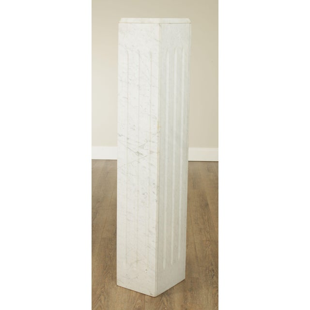 High Quality Vintage Italian White Carrara Marble Column Store Item#: 25100