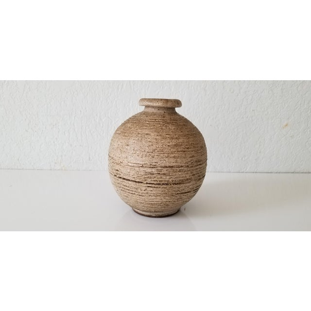 Brown Mid-Century Studio Pottery Bud Vase , Signed . For Sale - Image 8 of 8