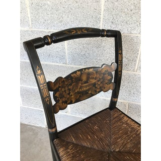 1940s L. Hitchcock Rush Bottom Bolster Turtle Back Side Chair Preview