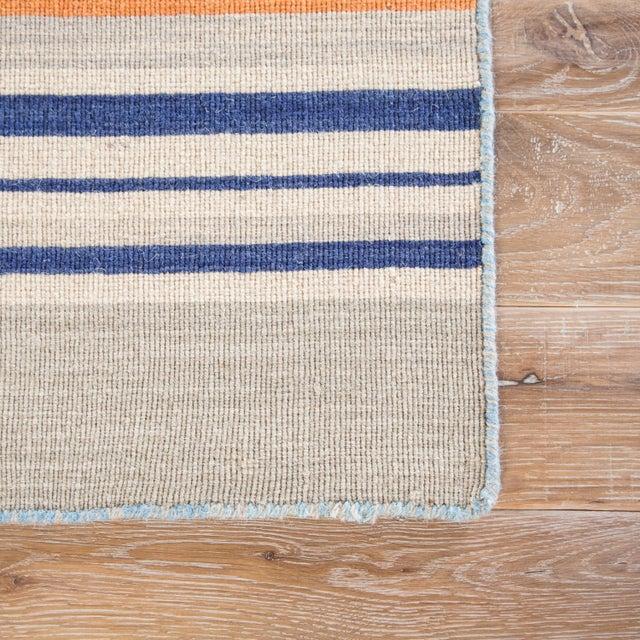 Contemporary Jaipur Living Amistad Handmade Striped Blue/ Orange Area Rug - 5′ × 8′ For Sale - Image 3 of 6