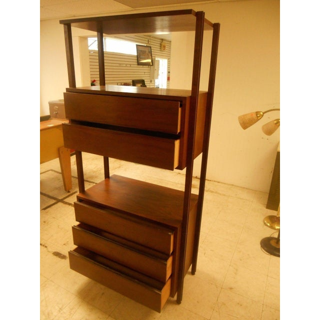 Stanley Danish Mid-Century Modern Wall Unit - Image 5 of 8