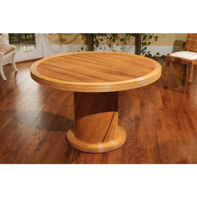 1980s Elegant Circular Center or Dining Table by Bielecky Brothers For Sale - Image 5 of 10
