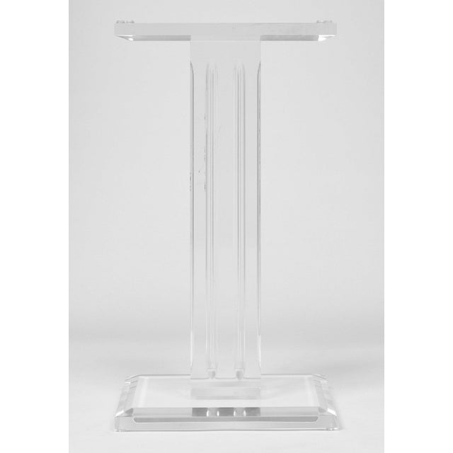 French Mid-Century Lucite Pedestal For Sale In Austin - Image 6 of 9