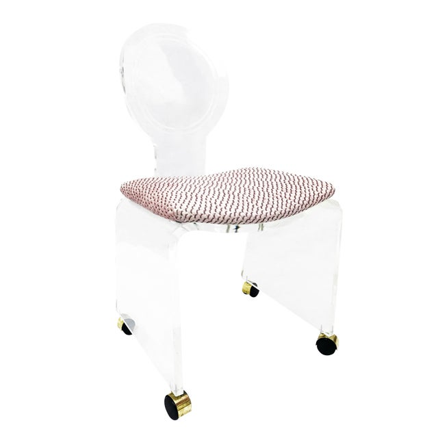 1970s Regency Hill Mfg. Lucite Waterfall Side Chair For Sale