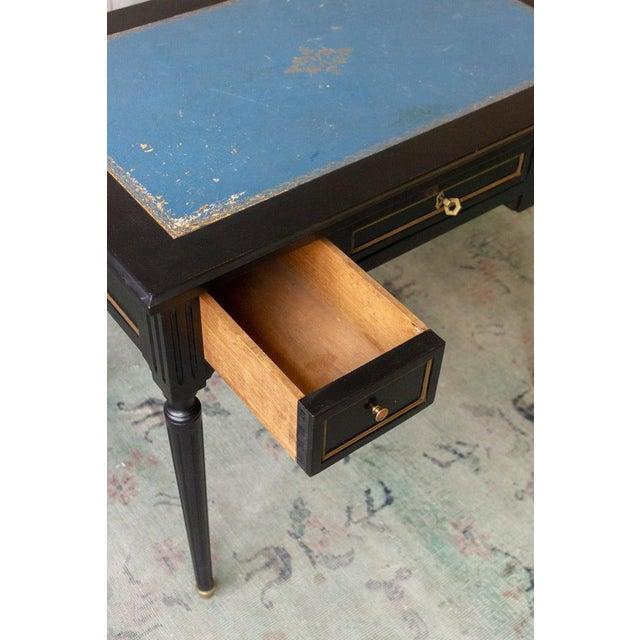 1920s French Ebonized Mahogany Writing Desk For Sale - Image 9 of 13