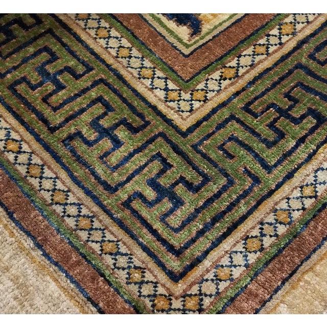 Modern Kafkaz Peshawar Jenna Light Gold & Green Wool Rug - 9'10 X 14'0 For Sale - Image 3 of 7