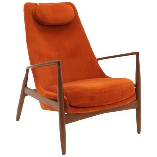 High Back Seal or Sälen Lounge Chair by Kofod-Larsen for Ope, Sweden, 1960. For Sale