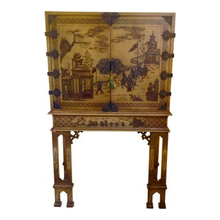 Chinoiserie Chest on Stand / Cabinet For Sale