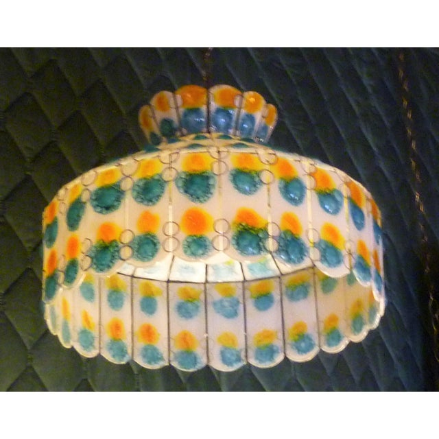 1960s Mid-Century Modern Fused Art Glass Chandelier For Sale - Image 4 of 8