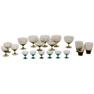Collection of Morgantown American Modern Glassware by Russel Wright For Sale