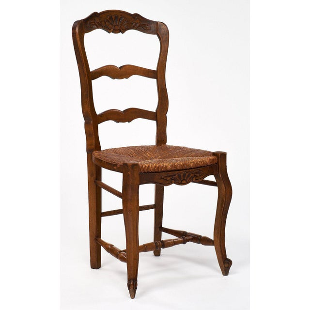 French Antique Wicker and Wood Dining Chairs For Sale - Image 10 of 10 - Exceptional French Antique Wicker And Wood Dining Chairs DECASO