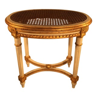 Louis XVI Caned Stool For Sale
