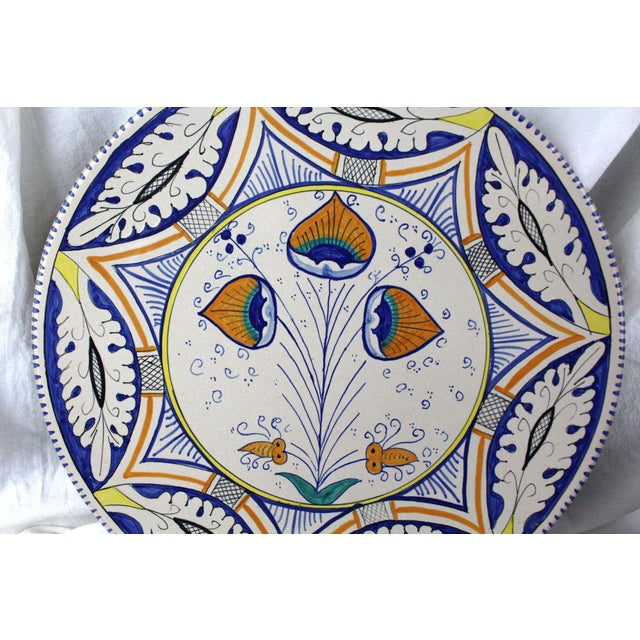 Mediterranean Pottery Charger For Sale - Image 4 of 5
