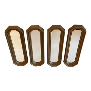 Mid Century Long Rectangular Gold Mirrors - Set of 4 For Sale