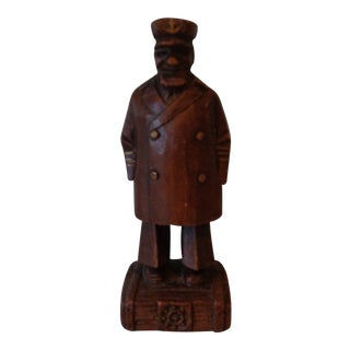 Vintage Syroco Wooden Sea Captain Figurine For Sale