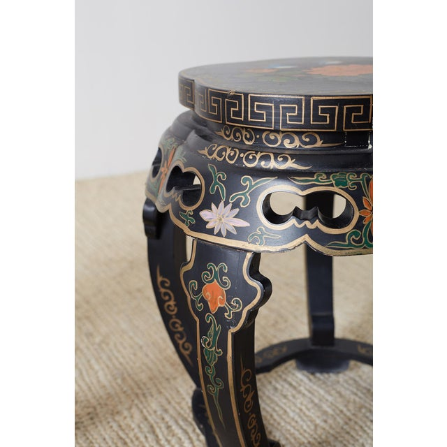 Pair of Polychrome Garden Seats or Drink Tables For Sale In San Francisco - Image 6 of 13
