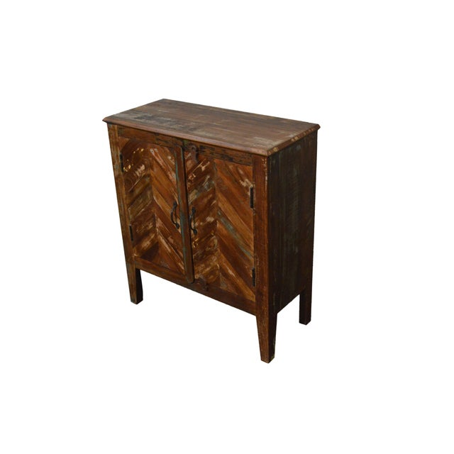 Reclaimed Wood Rustic Nightstand - Image 3 of 3