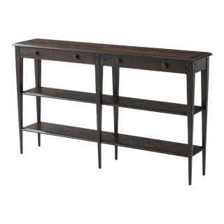 Italian Provincial Long Console Table For Sale