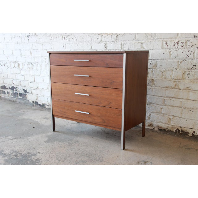 Paul McCobb for Calvin Four-Drawer Chest of Drawers with Glass Front Hutch - Image 9 of 11