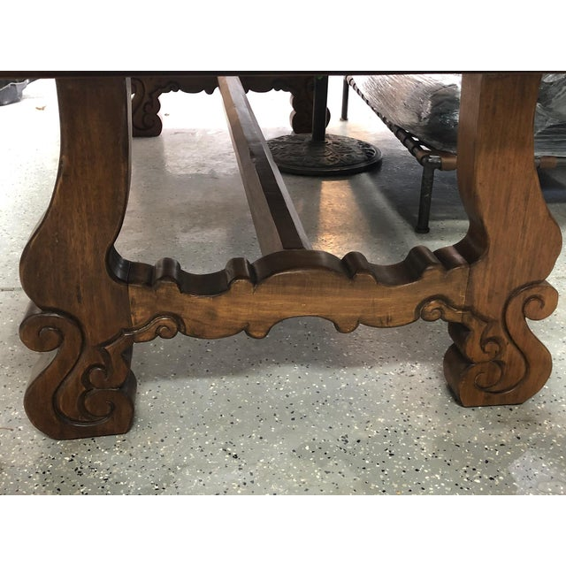 Spanish Spanish Designer Reclaimed Wood XL Dining Table For Sale - Image 3 of 13